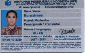 Kartu Anggota Himpunan Penerjemah Indonesia
